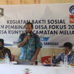Pemkab Sanggau Melaksanakan Program Kegiatan Desa Fokus Di Desa Kunyil