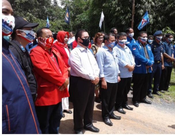 Wujudkan Dukungan, Pengurus DPD Nasdem Sanggau Ikut Deklarasi Paslon Aron-Subandrio di Sekadau
