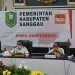 RAPAT MONEV MCP KORSUPGAH PEMERINTAH KABUPATEN SANGGAU TAHUN 2020.