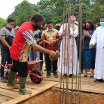 Bupati Sanggau Hadiri Peletakan Batu Pertama Pembangunan Gereja di Mukok