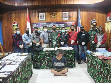 Prajurit Satgas Pamtas 642 Kapuas di Entikong, Gagalkan Penyeludupan Narkoba Seberat 5 Kilogram