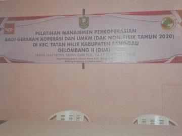 Kegiatan Pelatihan Manajemen Perkoperasian Bagi Gerakan Koperasi dan UMKM (Dak Non Fisik ) gelombang ke II