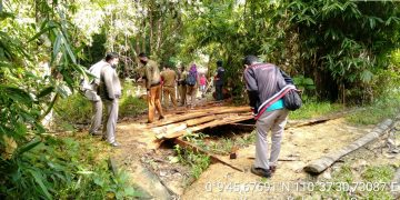 Warga Mensarang dan Majau Kecamatan Kapuas Dukung Pembangunan Jalan Produksi