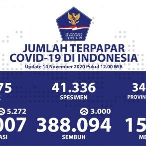Kesembuhan Kumulatif Meningkat Menjadi 388.094 Pasien - Berita Terkini