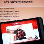 Prof. Dr. dr. Hindra Irawan Satari Sp.A(K)., MTropPaed (Ketua Komnas Kejadian Ikutan Pasca Imunisasi (KIPI)) memberikan paparan dalam dialog bertema keamanan vaksin dan menjawab KIPI (Kejadian Ikutan Pasca Imunisasi) di Jakarta, Kamis, 19 November 2020.