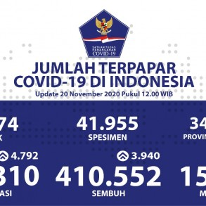 Pasien Sembuh COVID-19 Terus Bertambah Menjadi 410.552 Orang - Berita Terkini