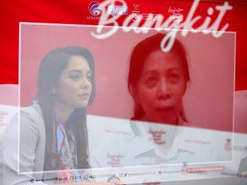 dr. Reisa Broto Asmoro, jubir Satgas Covid-19 dan duta adaptasi kebiasaan baru menjadi moderator dalam diskusi mengenai tata laksana vaksinasi di Indonesia bersama dr. Jane Soepardi, MPH., Pakar Imunisasi di Jakarta, Senin, 23 November 2020.