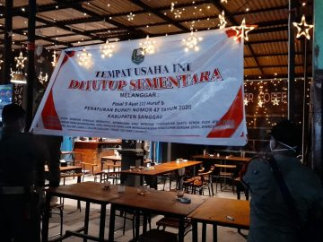 Abaikan Protokol Kesehatan, Warkop di Kota Sanggau Ditutup Sementara