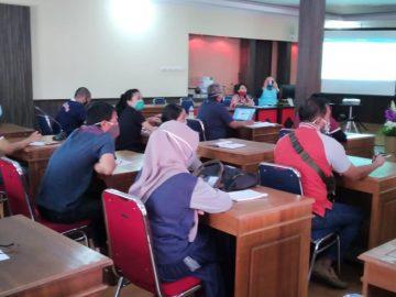 Rapat Evaluasi Kegiatan Tahun 2020 dan Persiapan Kegiatan Tahun 2021 di Lingkup Bappeda Kabupaten Sanggau