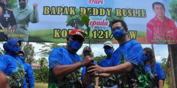 Wujudkan Program Langit Biru, Danrem 121/Abw Tanam Pohon di Sanggau