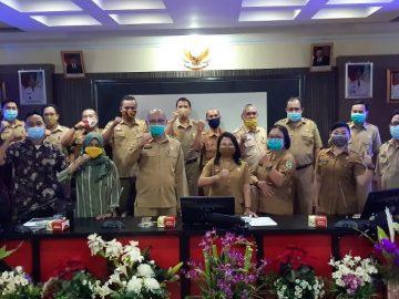 Bappeda Kab. Sanggau Menggelar Rapat Pembahasan Laporan Akhir Evaluasi Rencana Pembangunan Jangka Menengah Daerah Kabupaten Sanggau Tahun 2019 - 2024