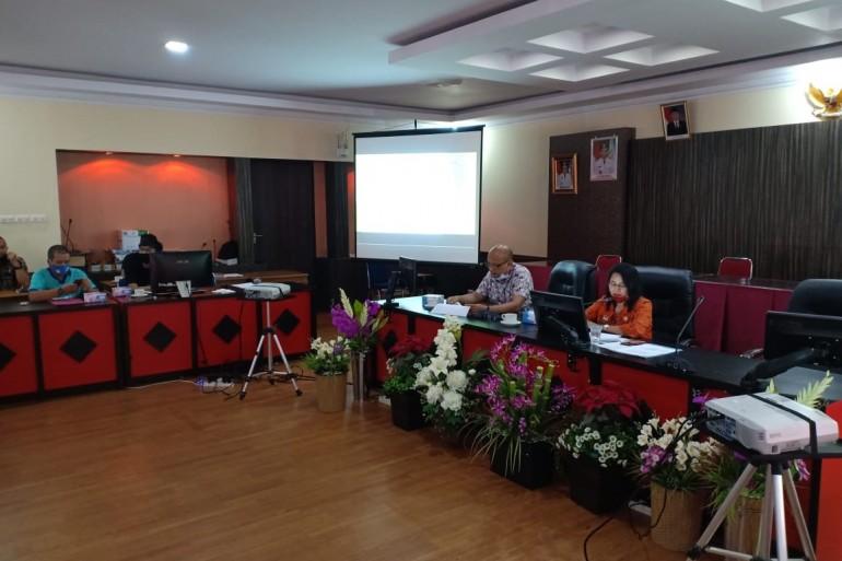 Bappeda Kabupaten Sanggau menyelenggarakan Rapat Laporan Pelaksanaan Dana Alokasi Khusus (DAK) Fisik dan APBN (Tugas Pembantuan) Kabupaten Sanggau Tahun 2020.