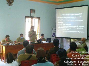 DPM Pemdes Kabupaten Sanggau Verifikasi Lapangan Pemekaran Dusun 5 Desa di Kecamatan Meliau