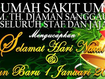Direktur & Staff RSUD M.Th.Djaman Sanggau mengucapkan selamat Natal &Tahun Baru 2021