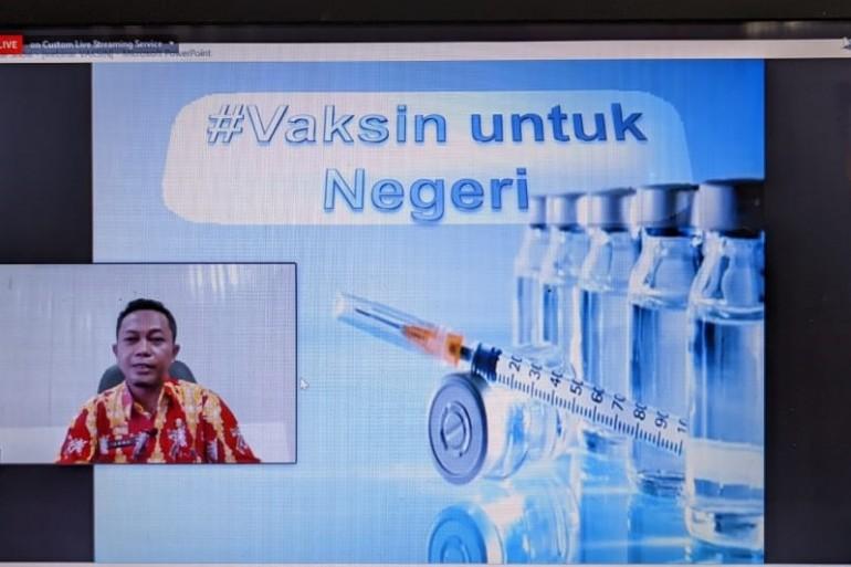 Webinar Vaksin Aman, Masyarakat Sehat. Kadis Kominfo Sanggau: Kami Siapkan Strategi Komunikasi Kepada Masyarakat