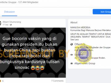 [SALAH] Jokowi Menggunakan Vaksin Buatan Eropa - Berita Terkini