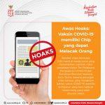 Hoaks: Vaksin COVID-19 memiliki Chip yang dapat Melacak Orang - Berita Terkini