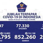 Pasien Sembuh COVID-19 Sudah Melebihi 850 Ribu Orang - Berita Terkini