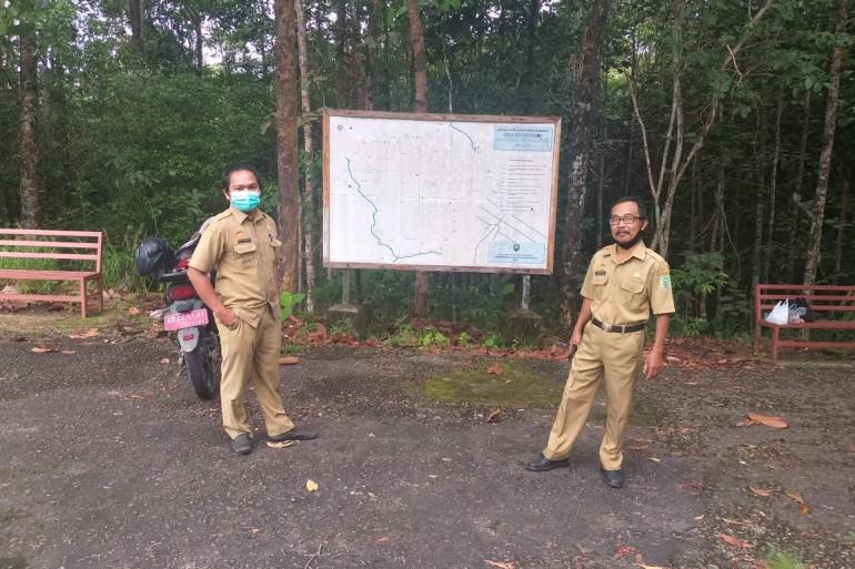 Kabid Pariwisata Berkoordinasi dengan Dinas Lingkungan Hidup di Hutan Kota