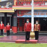 Plt Kadis Porapar Menghadiri Upacara peringatan HUT ke-64 Pemerintah Provinsi KALBAR 2021