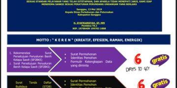 Dinas Perkebunan dan Peternakan Kabupaten Sanggau Raih Peringkat ke-3 Hasil Penilaian Kepatuhan Terhadap Standar Pelayanan Publik Tahun 2020