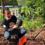 Penanaman Pohon di Kawasan Wisata Pancur Aji