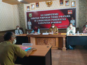 Uji Kompetensi Jabatan Pimpinan Tinggi Pratama tahun 2021 di Lingkungan Pemerintah Kabupaten Sanggau