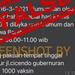 [SALAH] Pengumuman Jadwal Vaksinasi untuk Umum di Wilayah Jawa Barat Maret 2021 oleh Gubernur - Berita Terkini