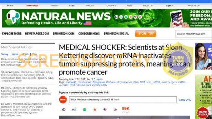 [SALAH] Vaksin Berbasis mRna, Dapat Menyebabkan Kanker - Berita Terkini