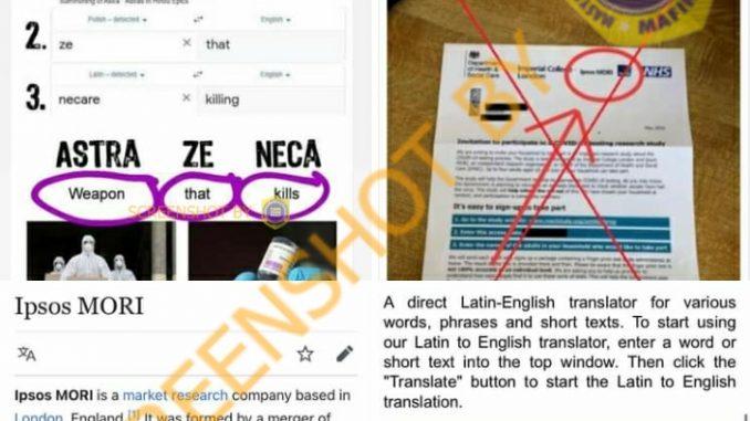 [SALAH] Nama AstraZeneca Memiliki Arti 'Senjata yang Mematikan' - Berita Terkini