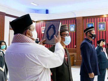 Pengukuhan Pejabat Fungsional Auditor dan Pengukuhan Pejabat Administrator / Pengawas di Lingkungan Pemerintah Kabupaten Sanggau