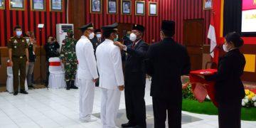 Pengukuhan dan Pelantikan Jabatan Pimpinan Tinggi Pratama, Administrator dan Pengawas di Lingkungan Pemerintah Kabupaten Sanggau