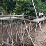 Setahun Rusak, Jembatan Dusun Sejata di Kabupaten Sanggau