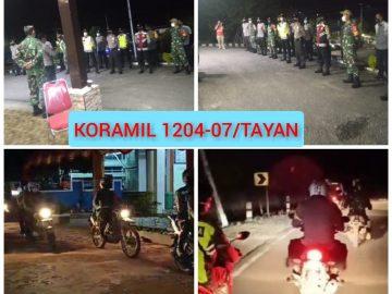 Wujud Sinergisitas, Personel Koramil 1204/07 dan Polsek Tayan Gelar Patroli Bersama Amankan Malam Paskah