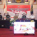 Bupati Sanggau Mengikuti Pengarahan Presiden RI Kepada Kepala Daerah Se-Indonesia Secara Virtual