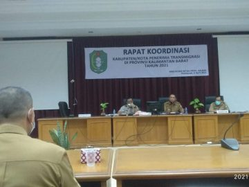 Nakertrans Sanggau Perjuangkan SP Pugar Sungai Beruang di Rapat Koordinasi Kabupaten / Kota Penerima Transmigrasi