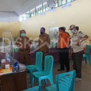 Wabup Sanggau Kembali Tinjau Pos Satgas PPKM di Kecamatan