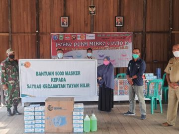 PT ICA Tayan Sumbangkan 5000 Masker dan Bantuan Lainnya