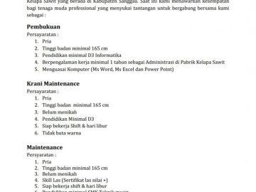 PT. Sasmita Bumi Wijaya is Hiring!