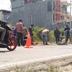 Dinas Bina Marga Tambal Lubang Jalan di Kota Sanggau