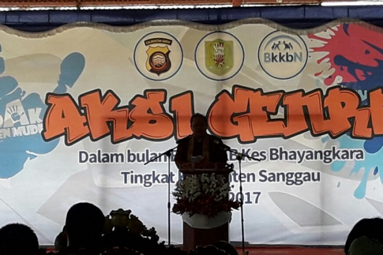 BKKbN Perwakilan Provinsi Kalbar Gelar Aksi GenRe di Kecamatan Sekayam