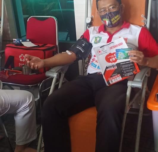 Disbunnak Lakukan Aksi Donor Darah, 12 Kantong Darah Terkumpul