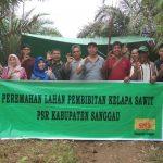 Disbunnak Menghadiri Acara Peremahan Lahan Untuk Pembibitan Kelapa Sawit
