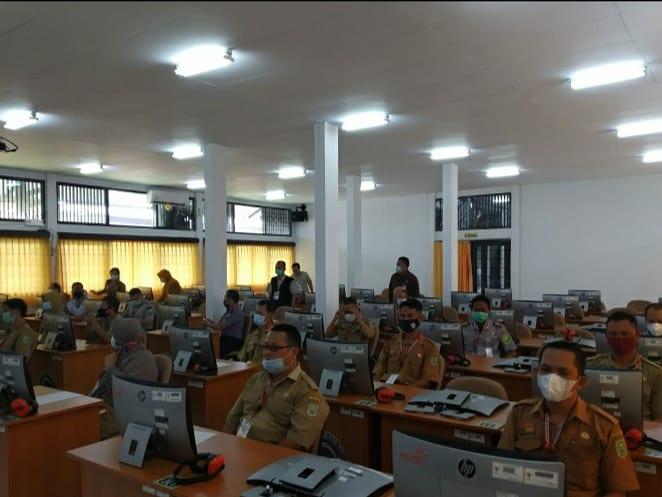 Pelaksanaan Ujian Dinas Tingkat 1 dan Ujian Kenaikan Pangkat Penyesuaian Ijasah Kabupaten Sanggau dan Kabupaten Melawi