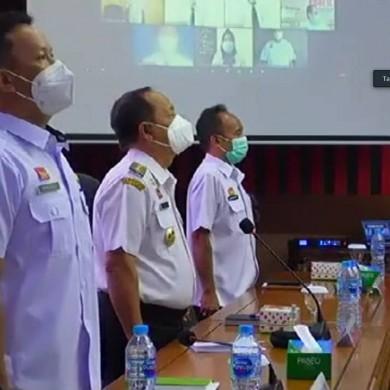 Pembukaan Pelatihan Dasar CPNS Gol III dan II di Lingkungan Pemerintah Kabupaten Sanggau Tahun 2021