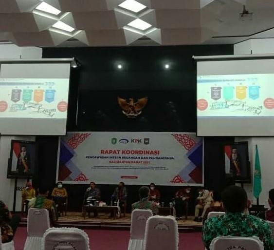Rapat Koordinasi Pengawasan Intern Keuangan dan Pembangunan Tingkat Provinsi Kalimantan Barat.