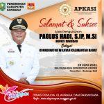 Selamat dan Sukses Atas Pengukuhan Bupati Sanggau Sebagai Koordinator Wilayah Kalimantan Barat