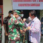Bupati Sanggau Dampingi Danrem 121/ABW Untuk Meninjau Pembangunan Laboratorium PCR/BSL 2 Di Kabupaten Sanggau