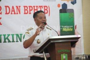 Bapenda Sanggau Melaunching Pembayaran Online PBB-P2 dan BPHTB Secara Elektronik Melalui ATM dan Mobile Banking Bank Kalbar Oleh Bupati Sanggau