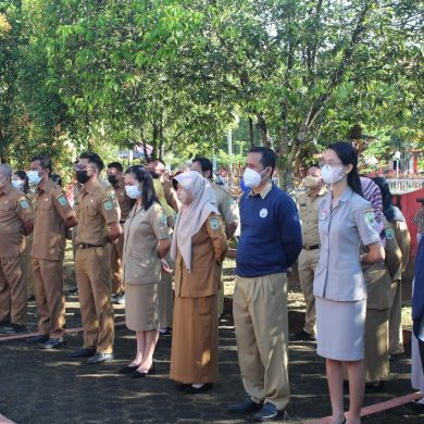 Sosialisasi Anti Narkoba Tahun 2021 di Lingkungan Bappeda Kabupaten Sanggau Oleh Kepala BNN, Rudolf Manimbun ST.,MM